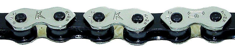 KMC Ketten »K 710 Kette silber schwarz«