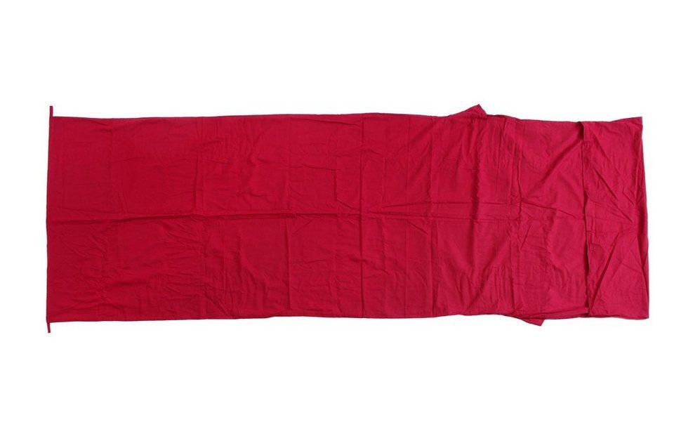 Basic Nature Schlafsack »Baumwollinlett Deckenform« in rot