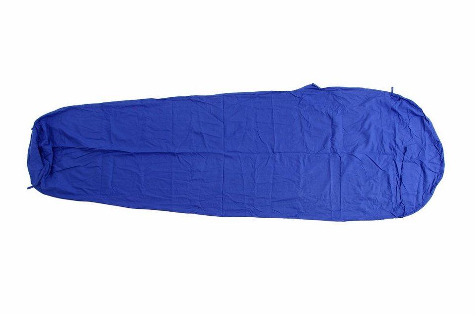 Basic Nature Schlafsack »Baumwollinlett Mumienform« in blau
