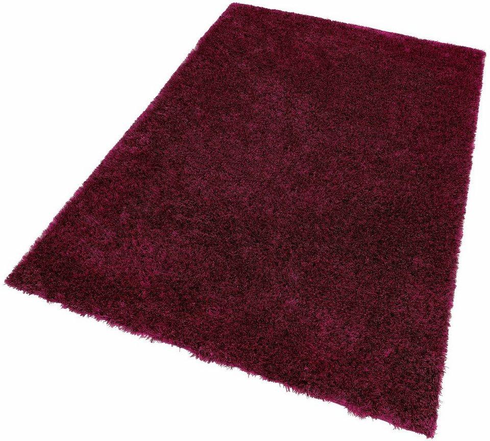 Hochflor-Teppich, Kayoom, »Diamond 700«, Höhe 45mm, handgetuftet in Violett