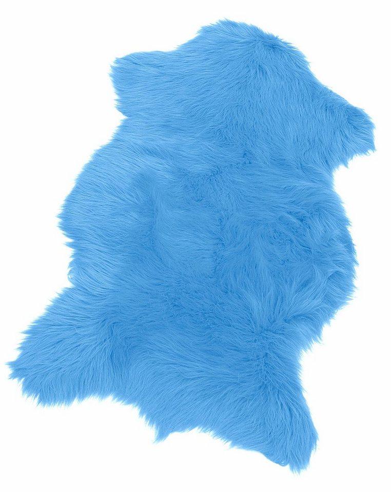 Fell-Teppich, Kinzler, »Pireo«, Höhe ca. 70 mm, synthetischer Flokati in blau