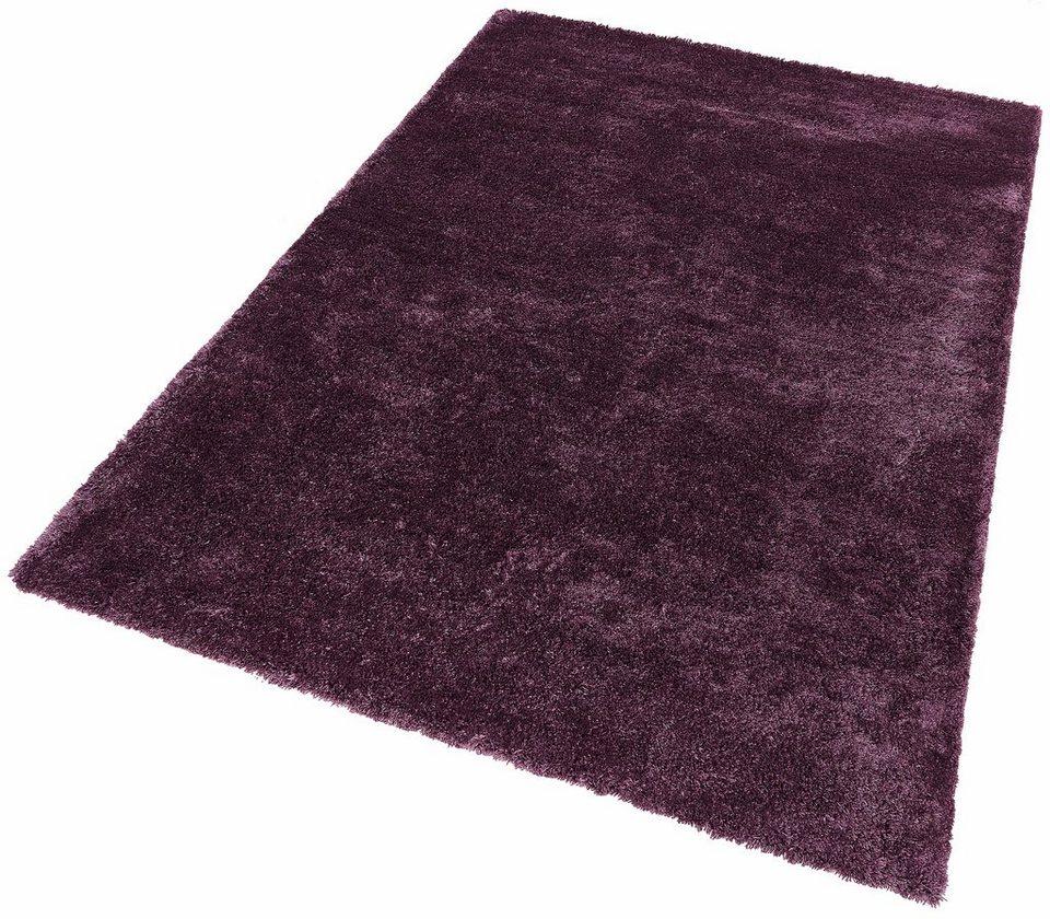 Hochflor-Teppich, Dekowe, »Dream«, Höhe 42 mm, Wunschmaß in aubergine