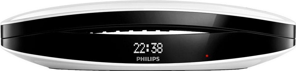 Philips M6652WB/38 Schnurloses DECT Telefon mit AB in schwarz