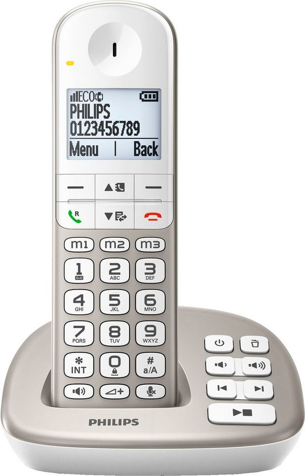 Philips XL4951/38 Schnurloses DECT Telefon mit AB in champagner