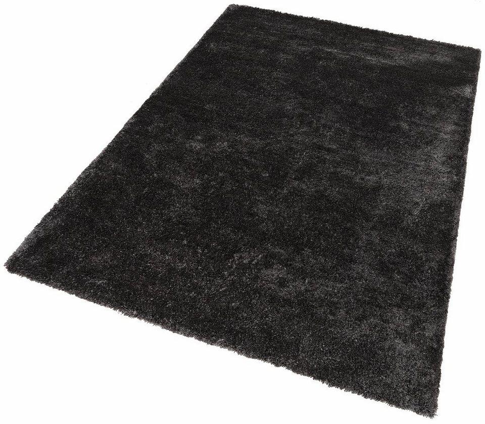 Hochflor-Teppich, Dekowe, »Dream«, Höhe 42 mm, Wunschmaß in anthrazit