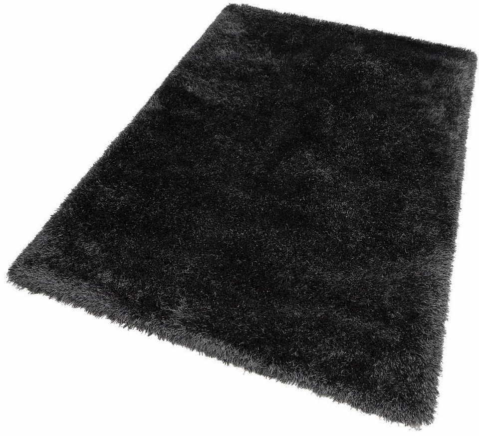 Hochflor-Teppich, Dekowe, »Lagune«, Höhe 45 mm, Wunschmaß in graphit