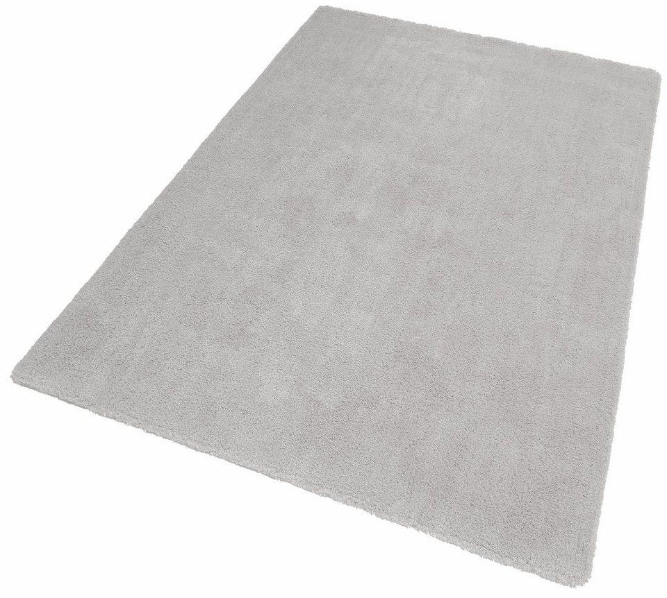 Hochflor-Teppich, Dekowe, »Beach«, Höhe 30 mm, getuftet in grau