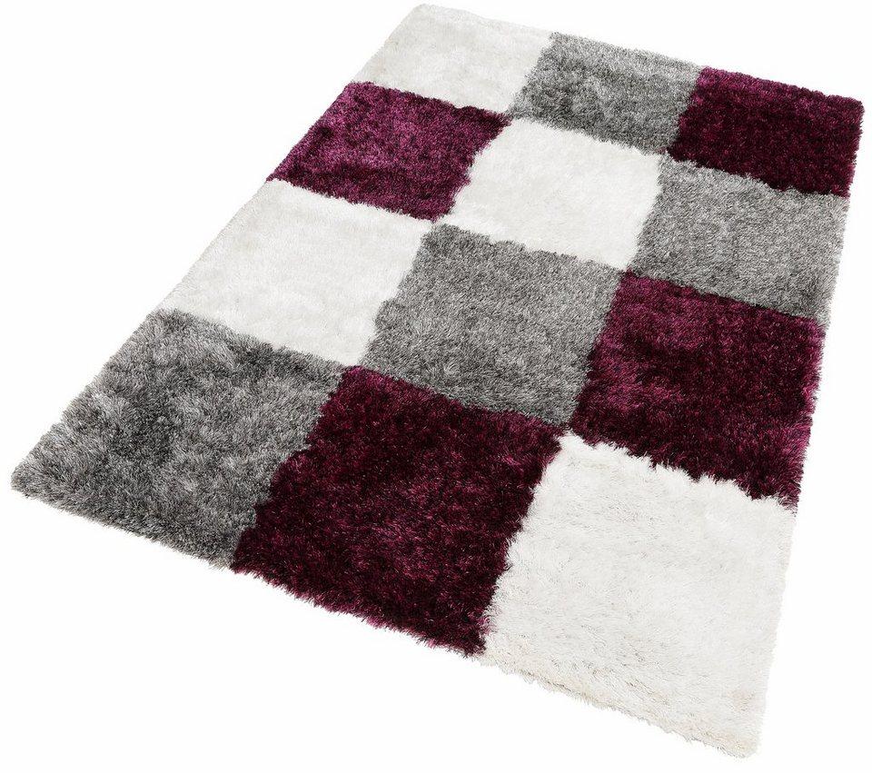 Hochflor-Teppich, Kayoom, »Diamond 752«, Höhe 50 mm, handgearbeitet in Grau