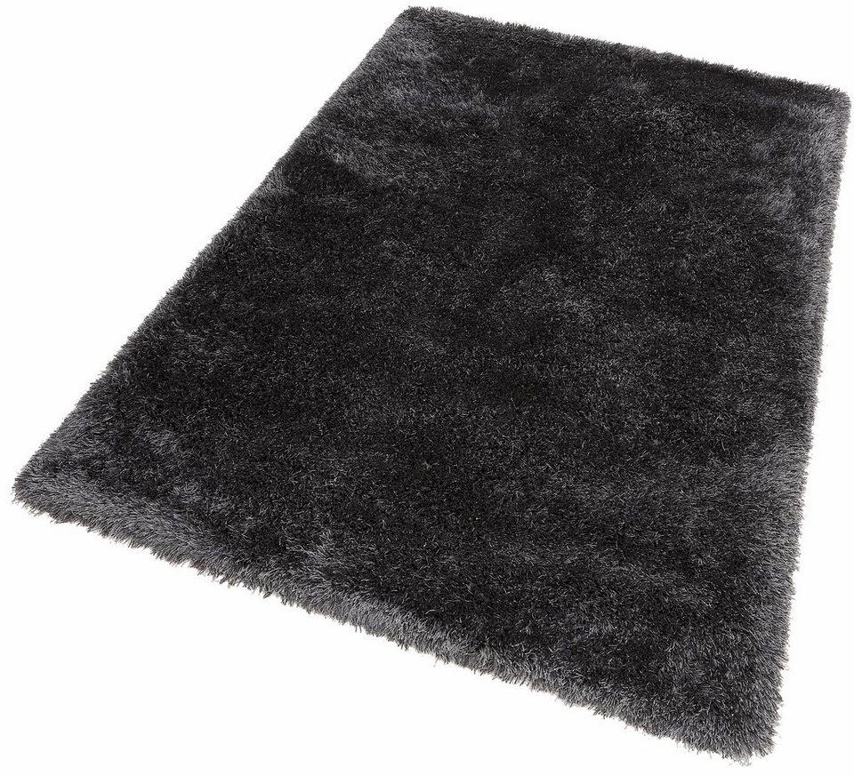 Hochflor-Teppich, Dekowe, »Lagune«, Höhe 45mm, getuftet mit Melange-Effekt in anthrazit