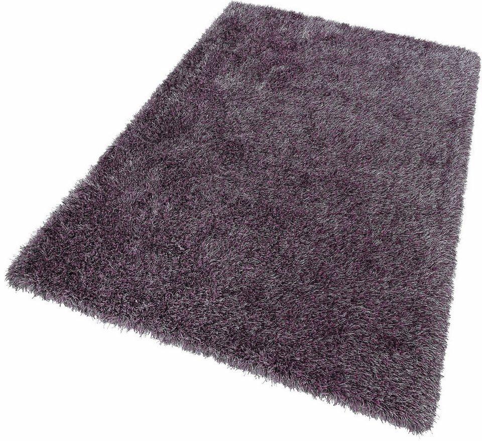 Hochflor-Teppich, Dekowe, »Lagune«, Höhe 45mm, getuftet mit Melange-Effekt in flieder