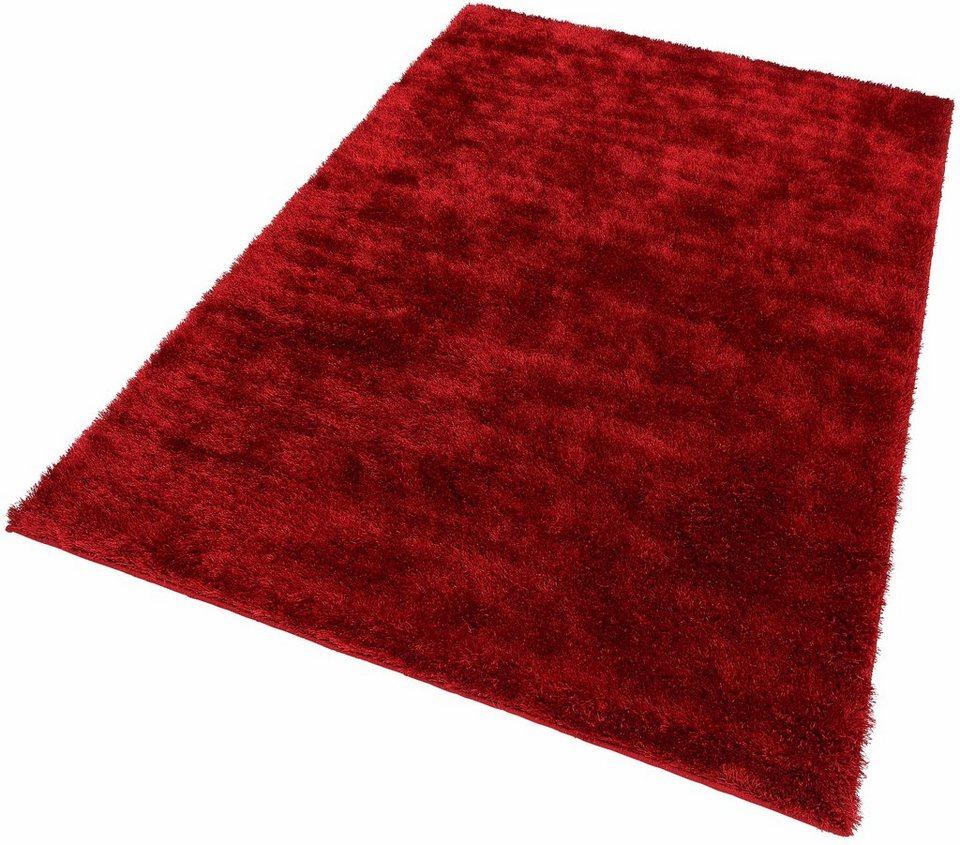 Hochflor-Teppich, Esprit, »New Glamour«, Höhe ca. 40 mm, getuftet in rot