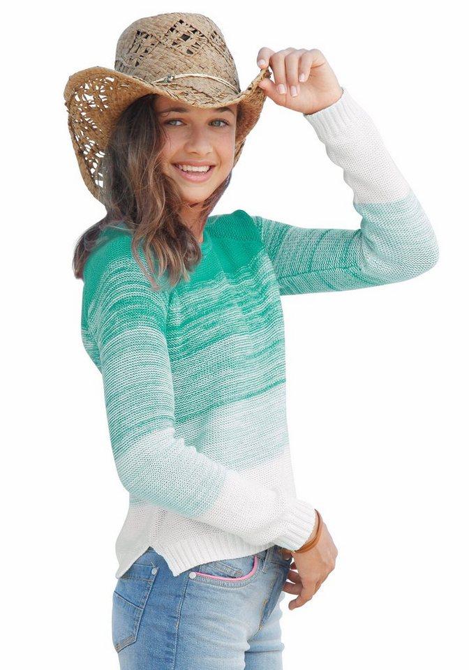 Buffalo Pullover für Mädchen, mit Farbverlauf in Mint