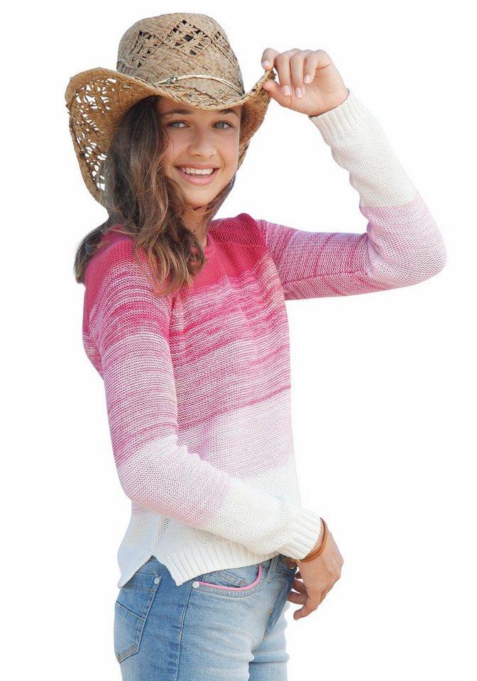 Buffalo Pullover für Mädchen, mit Farbverlauf in Pink