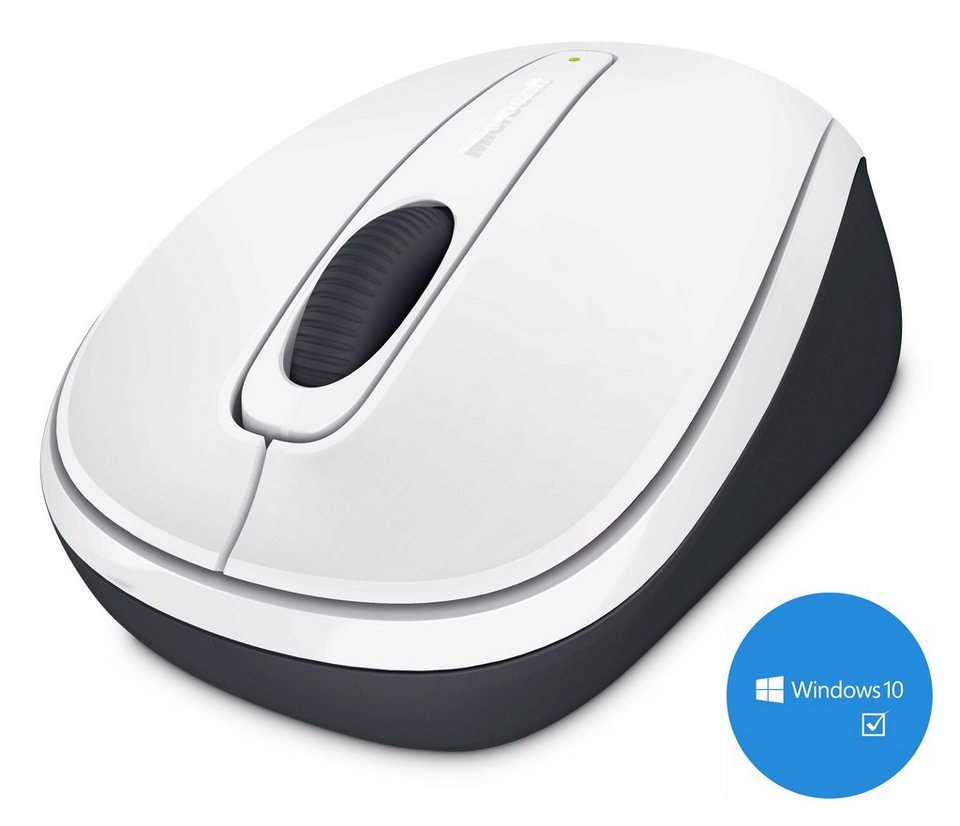 Microsoft Mobile Maus »Wireless Mobile Mouse 3500 weiß« in weiß