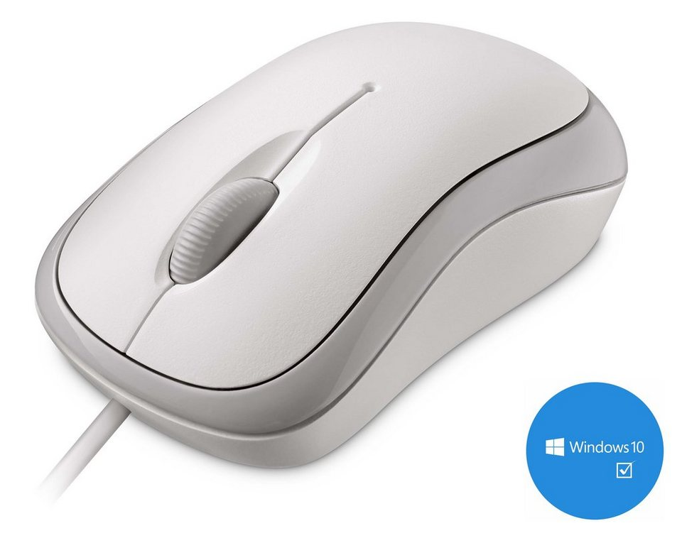 Microsoft P58-00058 Desktop Maus »Basic Optical Mouse USB« in weiß
