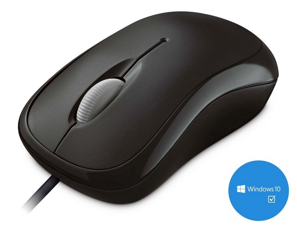 Microsoft P58-00057 Desktop Maus »Basic Optical Mouse USB« in schwarz
