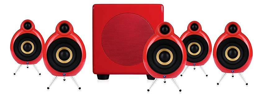Podspeakers Scandyna Lautsprechersystem »MicroPod 5.1 System« in rot