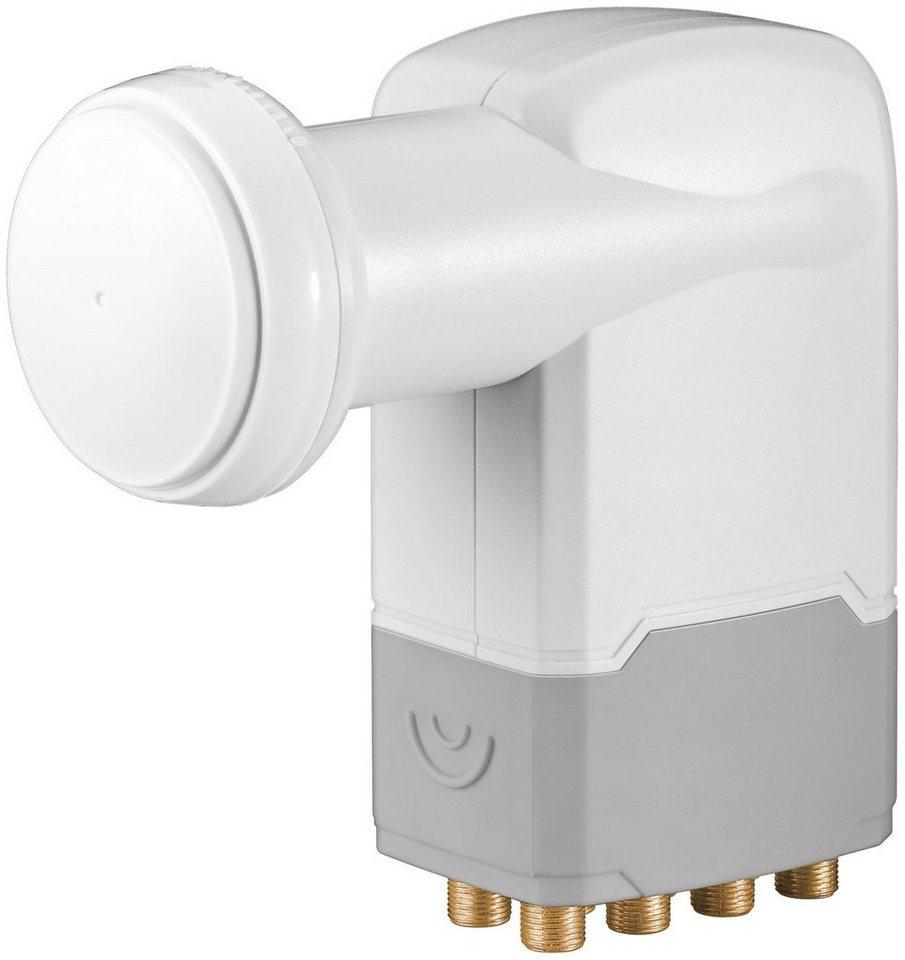 goobay Digitaler SAT-LNB für 8 Teilnehmer (UHD/HDTV/3D) »Universal Octo LNB« in weiß/grau