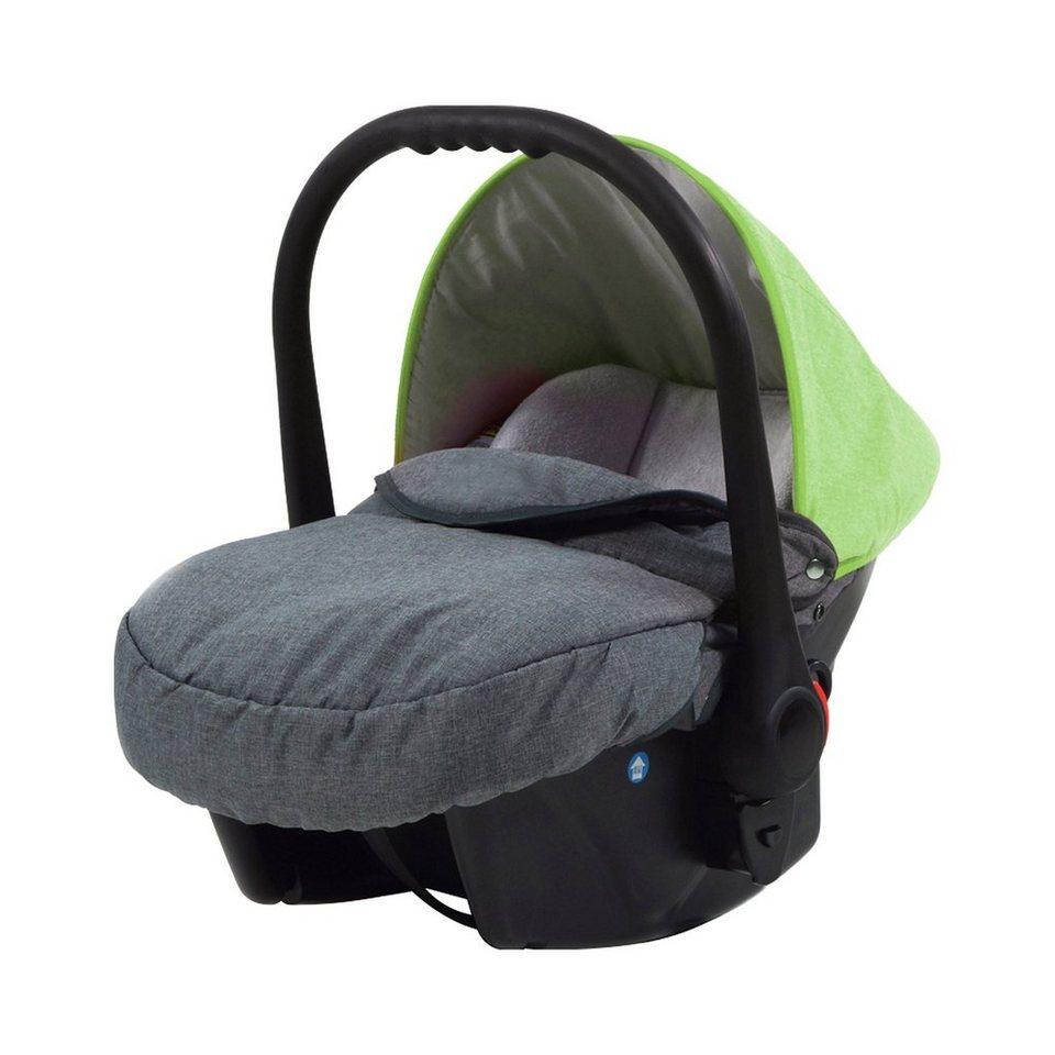 KNORR-BABY Babyschale Voletto in grau/hellgrün