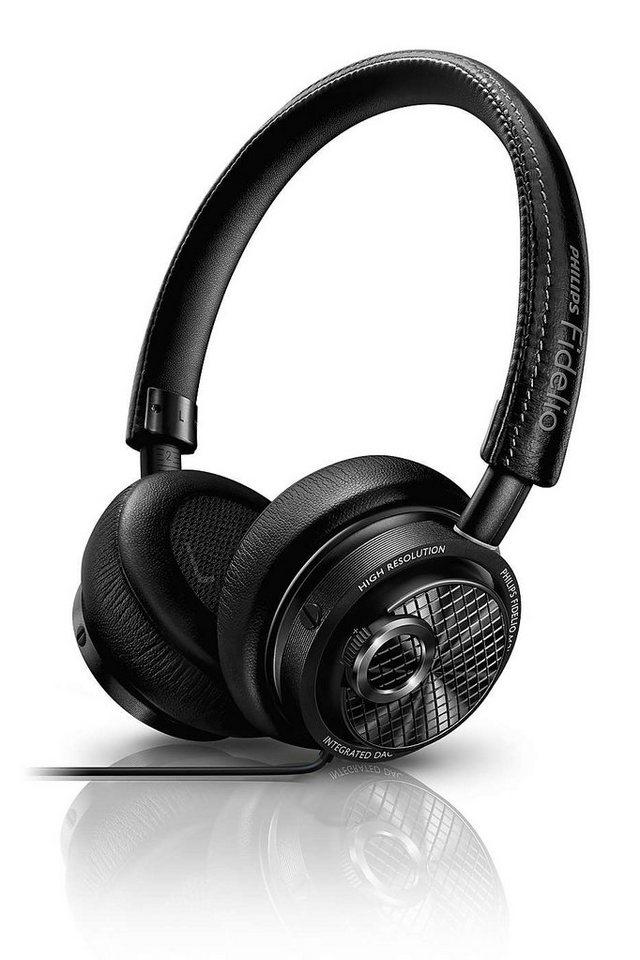 Philips Fidelio On-Ear Kopfhörer - Lightning™-Anschluss für iOS-Gerät »M2L/00 - High Resolution« in schwarz