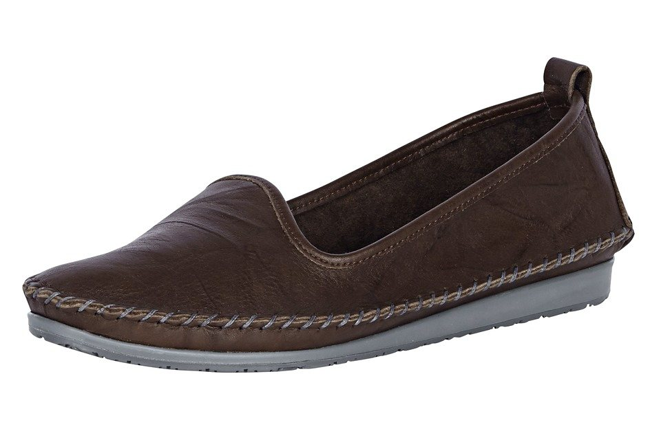 Andrea Conti Slipper in taupe
