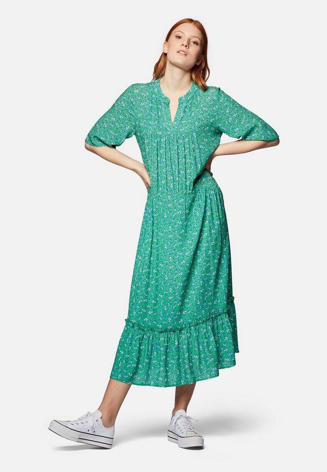mavi -  Maxikleid »PRINTED LONG DRESS« Maxi-Kleid halbarm