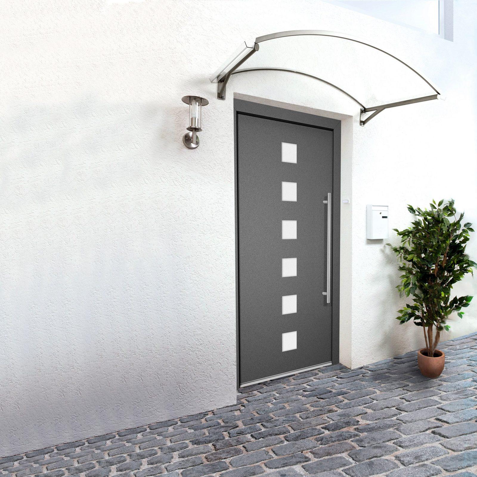 RORO Aluminium-Haustür »Italien«, anthrazit, nach Wunschmaß, Anschlag rechts oder links