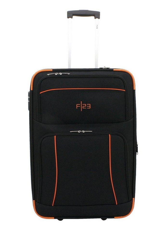 F23™ Trolley mit 2 Inlinerollen, »Dallas« in schwarz/orange