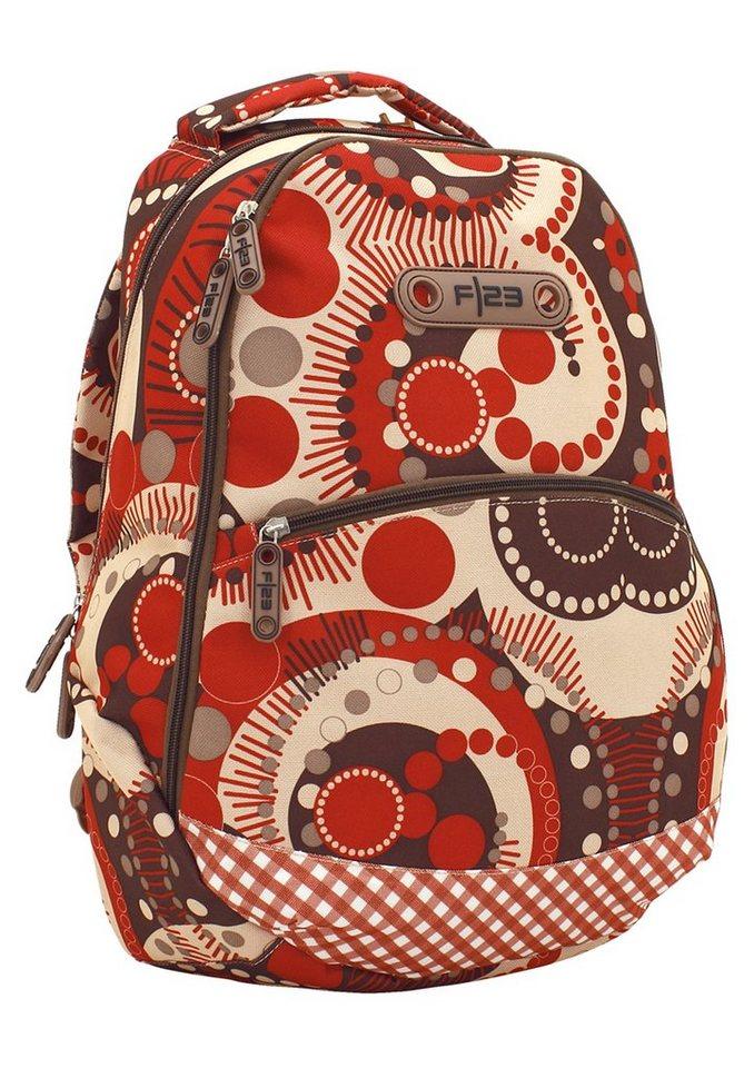 Rucksack mit Laptopfach, »Andiamo - Retro Design«, F23™ in rot-braun