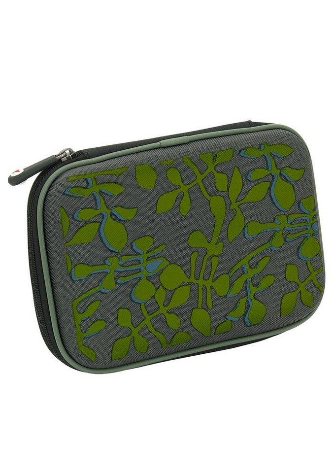 Mäppchen, »Hardbox Bloomy«, toito wear® in grau-grün