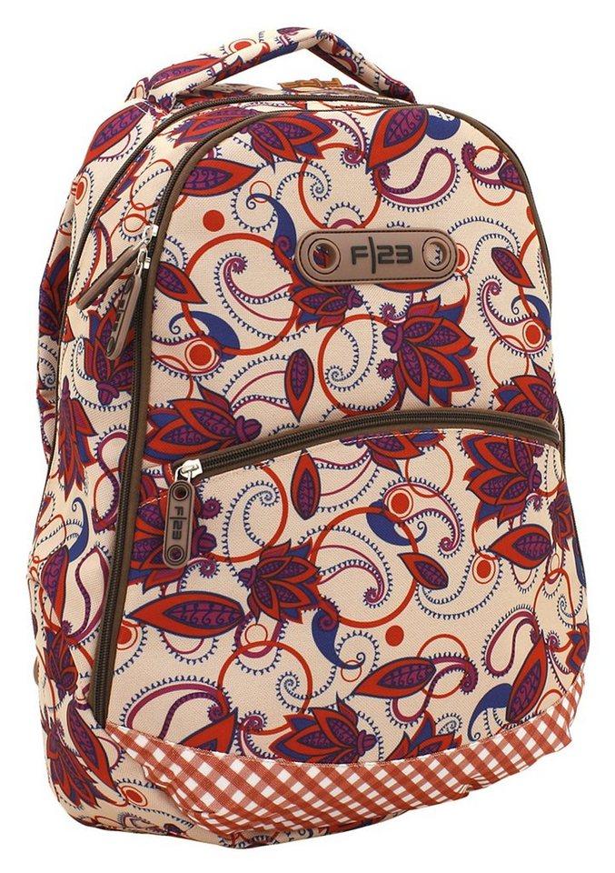 Rucksack mit Laptopfach, »Andiamo - Blumen Design«, F23™ in bunt