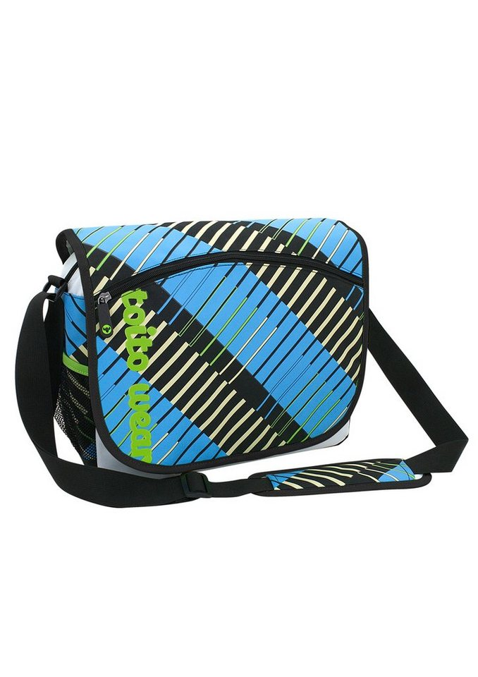 Umhängetasche mit Laptopfach, »Pinstripe«, toito wear® in blau-schwarz