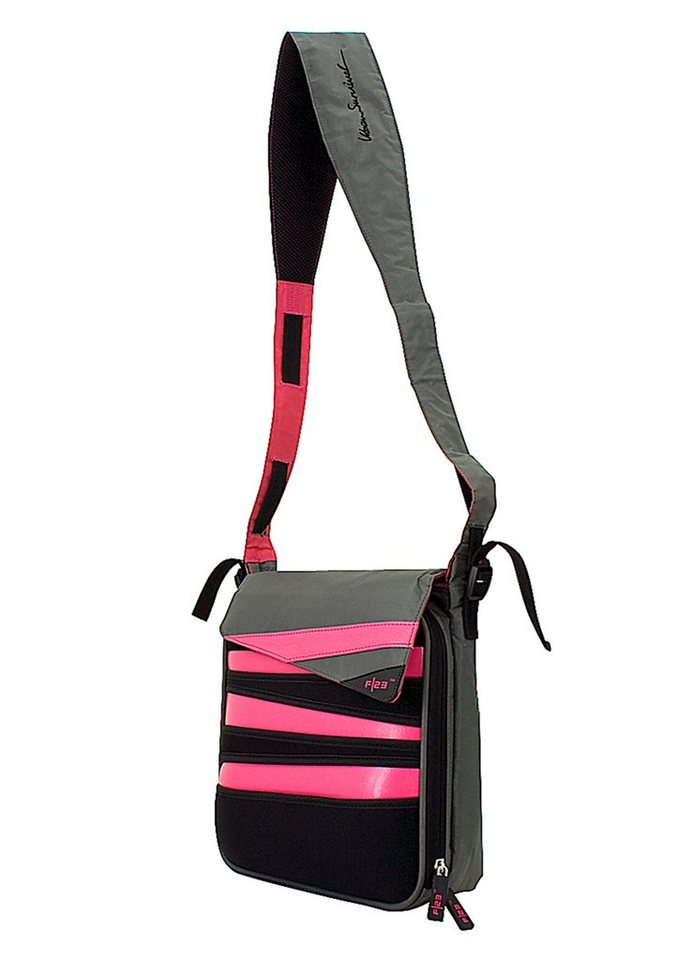 Umhängetasche, »Urban Survival - Nightliner«, F23™ in schwarz-pink