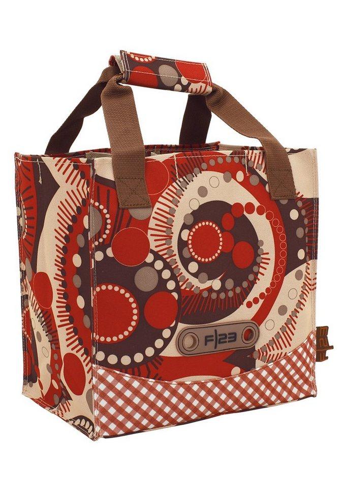 Flaschentasche, »Andiamo - Retro Design«, F23™ in rot-braun