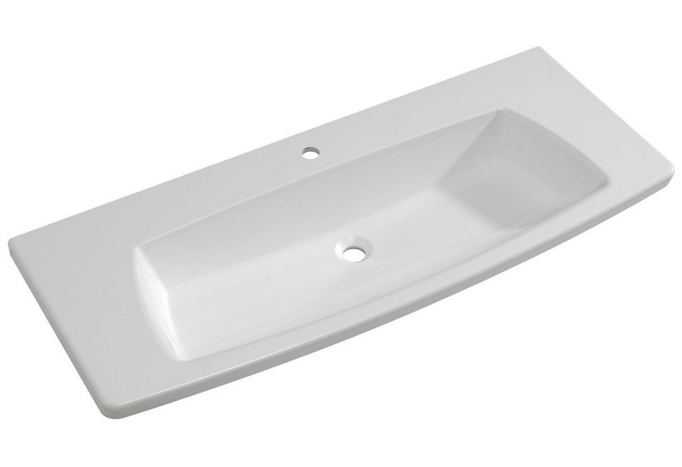 Mineralgussmarmor Waschtisch / Waschbecken »Tiva« 120 cm in weiß