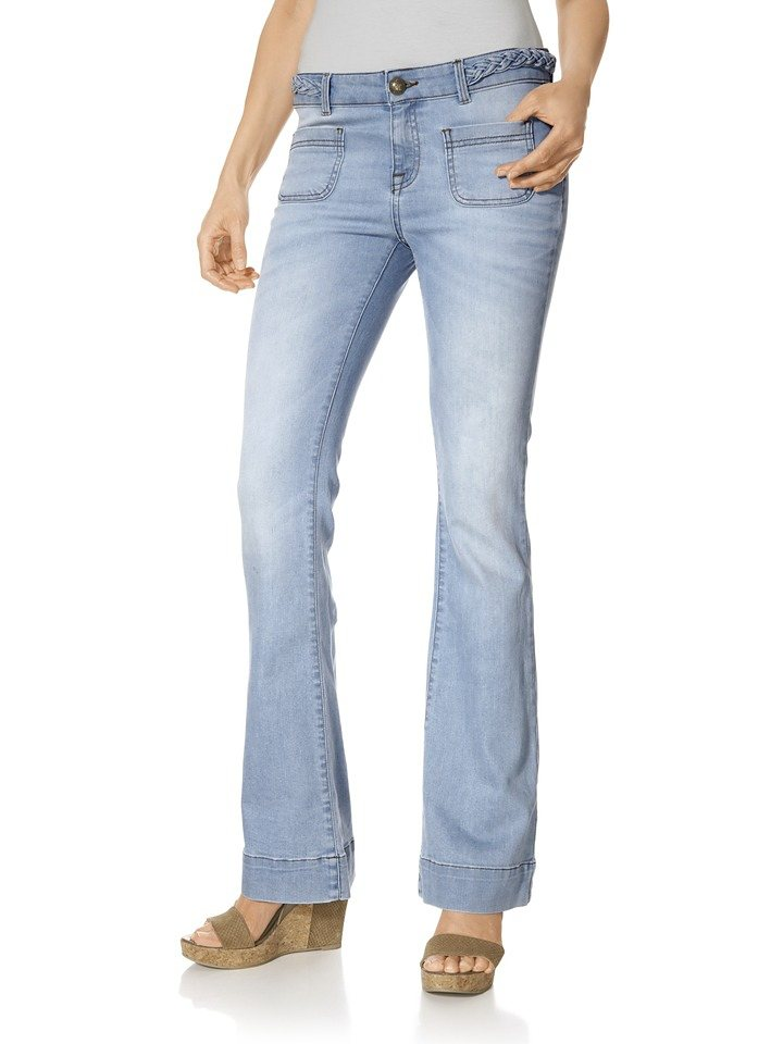 Bootcut-Jeans in bleached