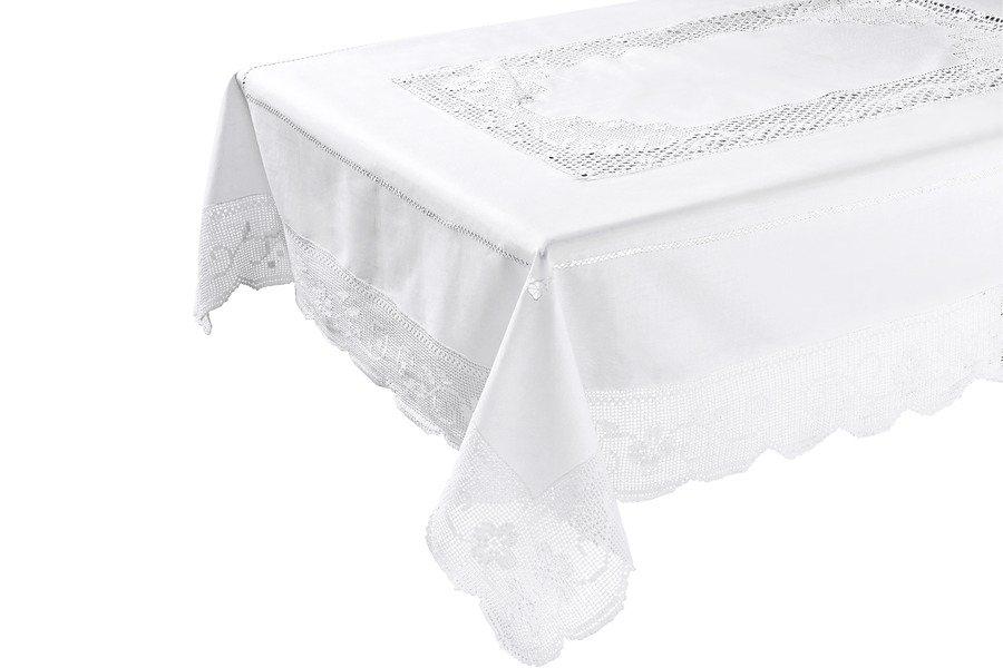 Tischdecke in weiß