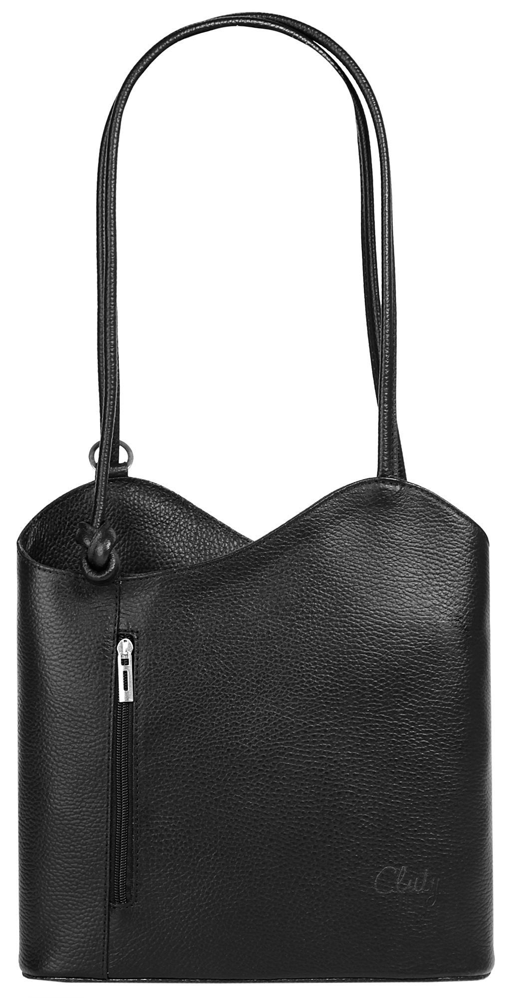 Cluty Leder Damen Shopper Rucksack Kombination
