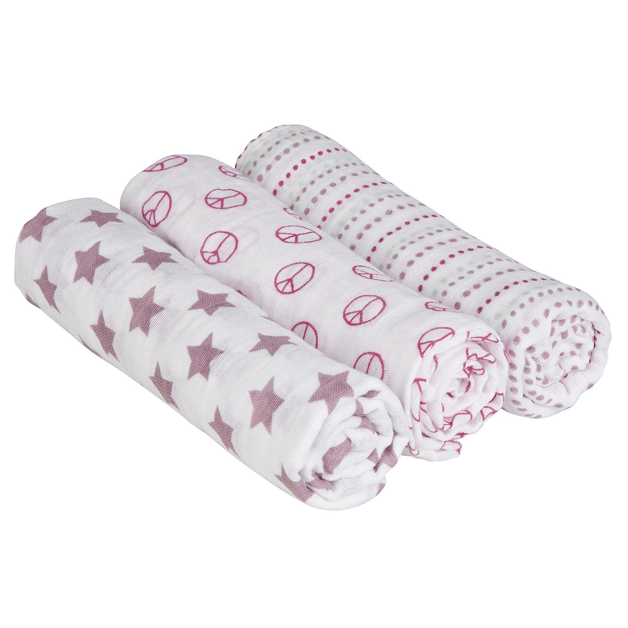 Lässig 3er-Pack Mullwindel Swaddle & Burp Blanket L Sweet Dreams...