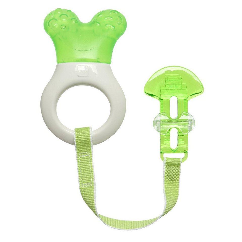 MAM Beißring Mini-Cooler & Clip in grün