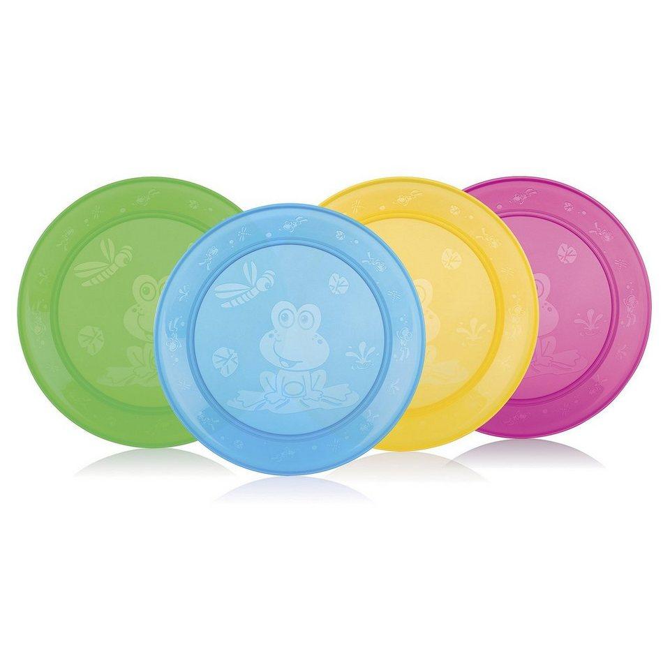 NÛBY 4er-Pack Teller in mehrfarbig