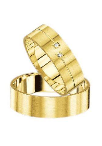 FIRETTI Vestuvinis žiedas su Gravur »Gelbgold ...