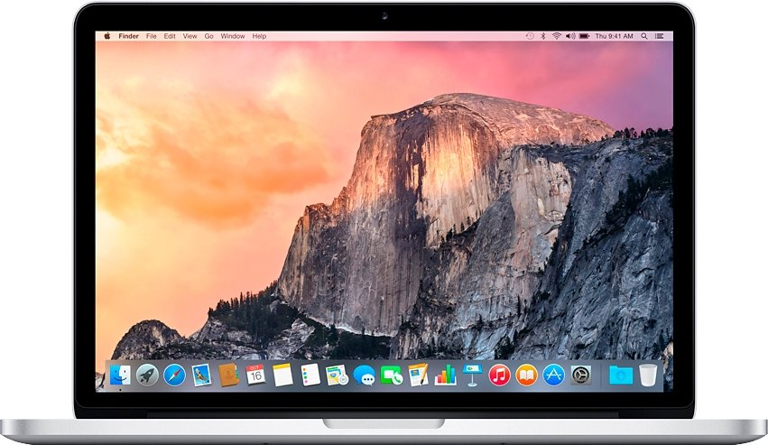 "Apple MacBook Pro 13,3"" 128 GB SSD mit Retina Display in Silber"