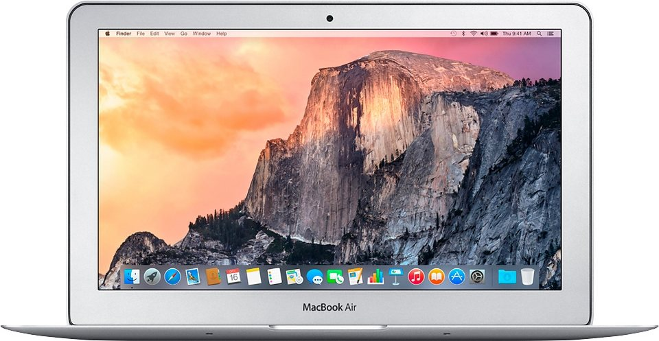 "Apple MacBook Air 11,6"" 128 GB SSD in Silber"
