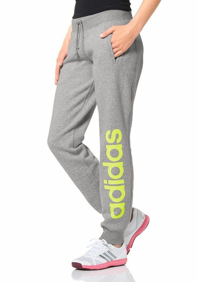 adidas Performance Jogginghose in Gelb-Grau