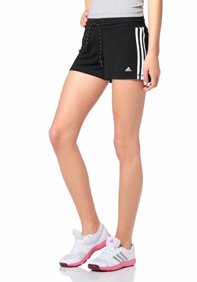 adidas Performance ESSENTIALS 3S SHORT Shorts in Schwarz-Weiß