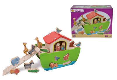 Eichhorn Steckspielzeug »Arche Noah«, (Set, 21-tlg), mit abnehmbarem Dach