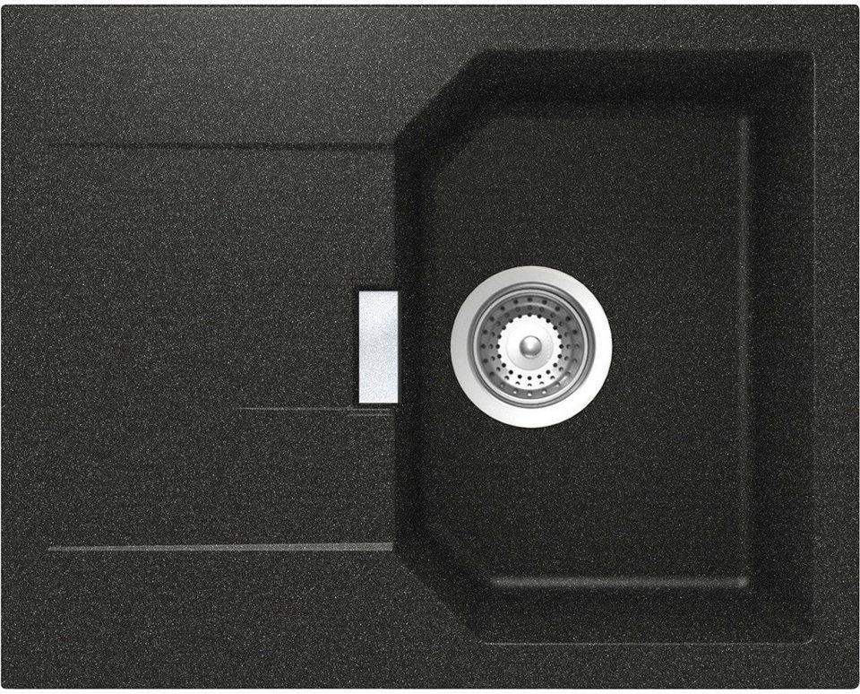 Domogranitspüle »Lucca«, ohne Restebecken, 64x51 cm in schwarz