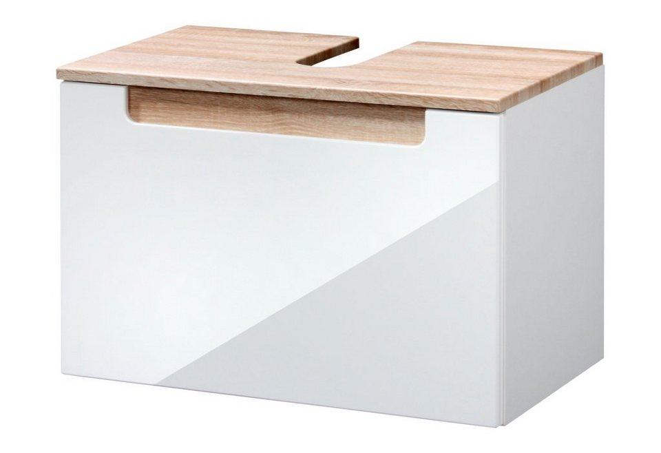Waschbeckenunterschrank »Siena«, Breite 60 cm in eichefarben/weiß