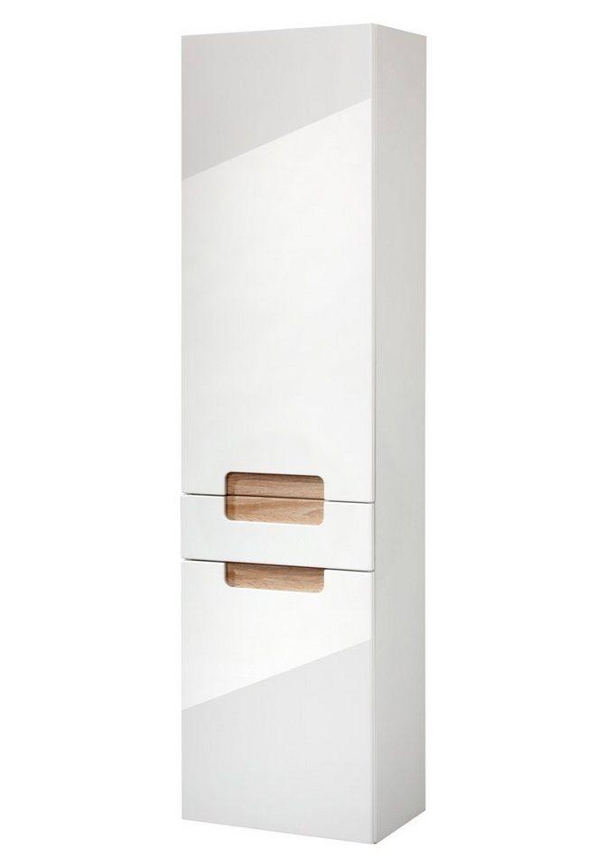 Held Möbel Hochschrank »Siena« 40 cm in eichefarben grau/weiß